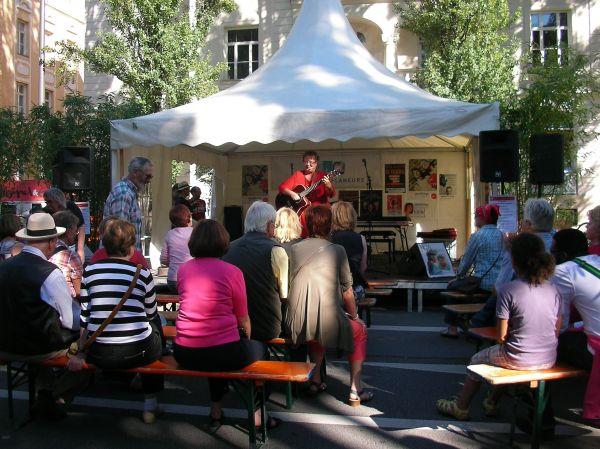 Bühne beim Corso Leopold