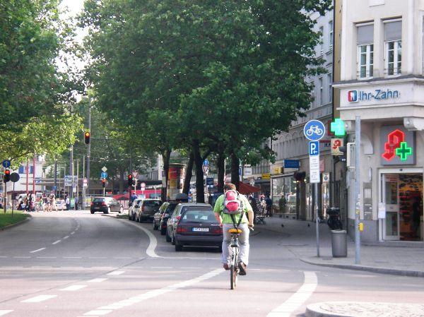 Radweg kurz vorm Hauptbahnhof