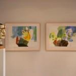 abstrakte Aquarelle im Bürgerbüro