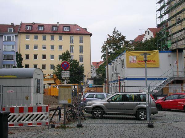 Josephsplatz ohne große Ahorne