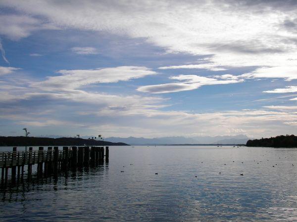 Starnberger See, Alpen, Wolken