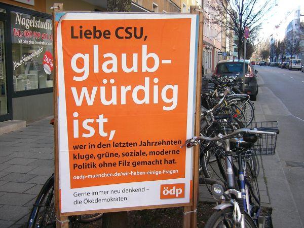 ÖDP Plakat an CSU