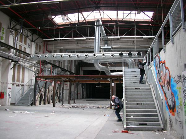 Jutierhalle mit Einbauten der Kammerspiele
