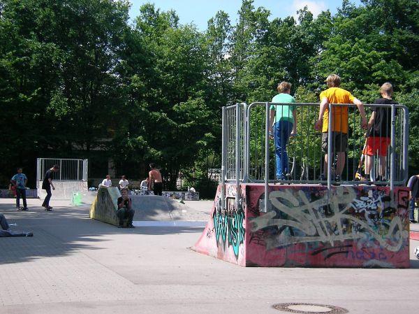 Skaterbereich im Maßmannpark