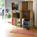 Installation mit Fernsehern im Neubau