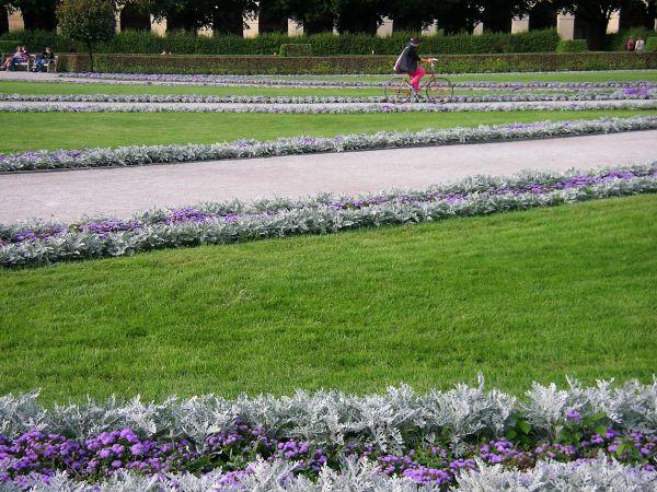Blumenrabatten im Münchner Hofgarten