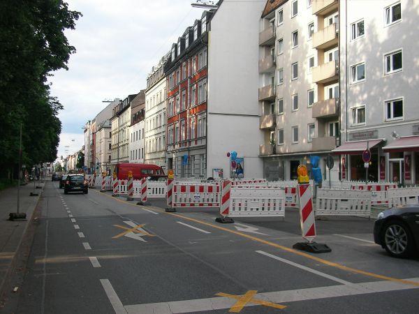 Baustelle Schleißheimer Straße