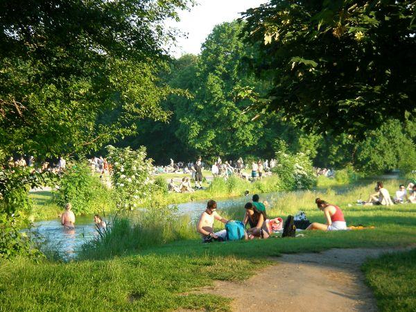 Englischer Garten - am Schwabinger Bach