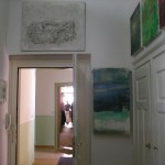 Atelierhaus innen: Blick von Fritz-Herrmann zu Quint