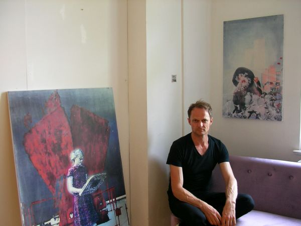 Georg Gaigl in seinem Atelier