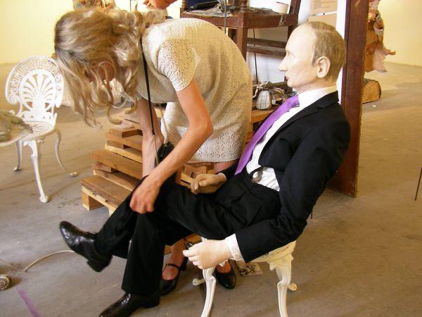 Putin-Skulptur in der Kunstakademie