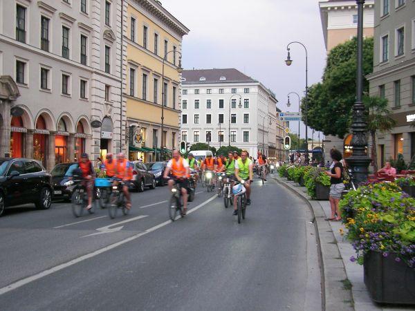 Radlnacht - Start in der Brienner Straße