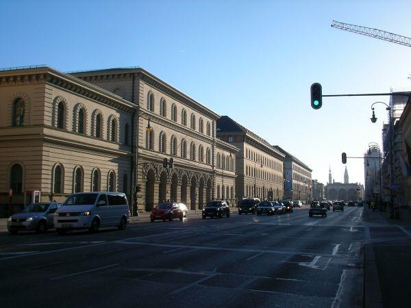 Ludwigstraße, Blick in Richtung Feldherrnhalle
