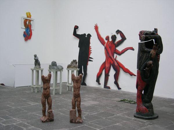 Objekte des Bildhauers Jochen Sendler