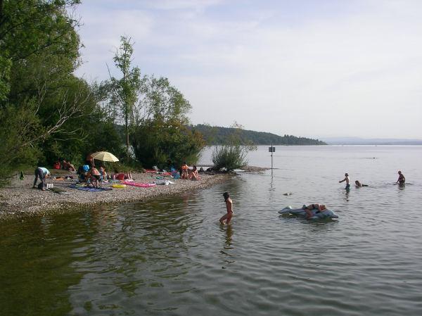 Ammersee - Herrschinger Bucht mit Kiesstrand