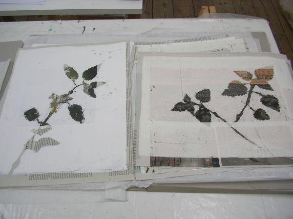 Brennesselbilder von Barbara Spaett im Atelierhaus