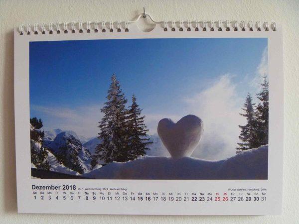 Landart-Kalender 2018 von Christina Diana Wenderoth