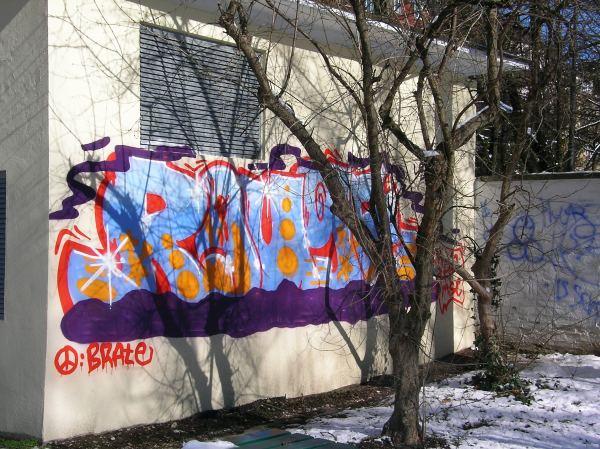 Grafitti am Schachplatz