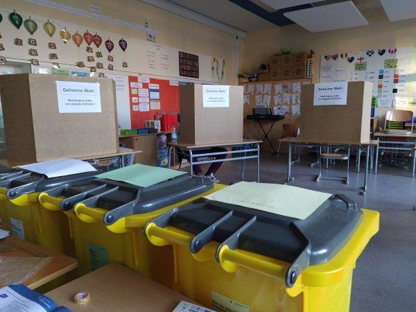 Wahllokal in Bayern - Kommunalwahl 2020